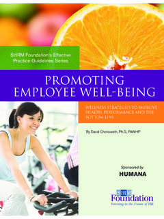 Promoting Employee Well-Being - Society for Human …