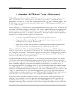 1. Overview of FERS and Types of Retirement - 1105 Media