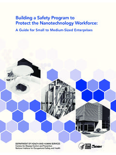Building a Safety Program to Protect the Nanotechnology ...