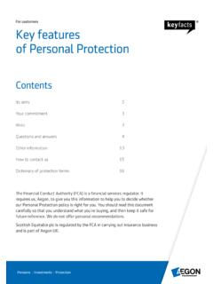 For customers Key features of Personal Protection