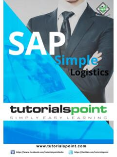 SAP Simple Logistics - Tutorials Point