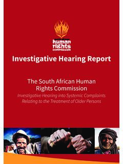 The South African Human Rights Commission - …