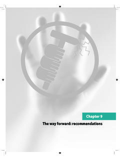 Chapter 9 The way forward: recommendations - WHO