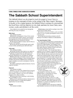 Sabbath School Superintendent