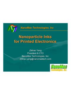 Nanoparticle Inks for Printed Electronics