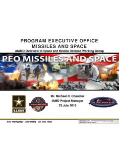 PROGRAM EXECUTIVE OFFICE MISSILES AND SPACE