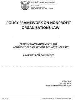 POLICY FRAMEWORK ON NONPROFIT ORGANISATIONS …
