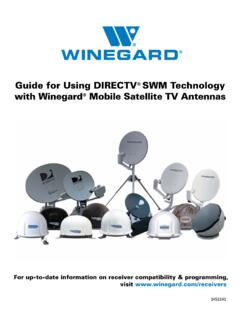 Guide for Using DIRECTV SWM Technology with Winegard ...