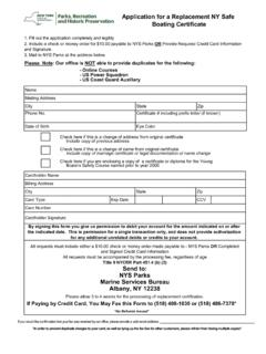 Application for a Replacement NY Safe Boating Certificate