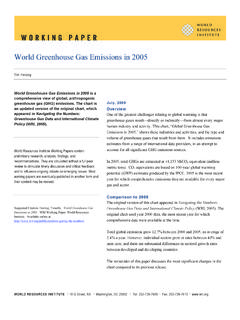 World Greenhouse Gas Emissions in 2005