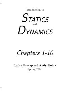 Introduction to STATICS DYNAMICS Chapters 1-10 …