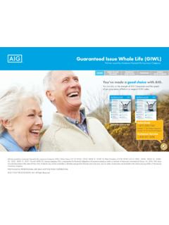Guaranteed Issue Whole Life GIWL - AIG