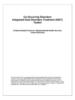 Co-Occurring Disorders Integrated Dual Disorders Treatment ...