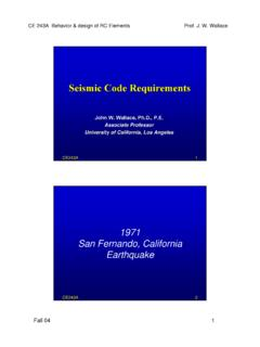 Seismic Code Requirements - Engineering