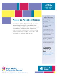 Access to Adoption Records - Child Welfare …