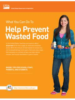 What You Can Do to Help Prevent Wasted Food