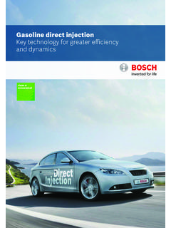 Gasoline direct injection Key technology for greater ...