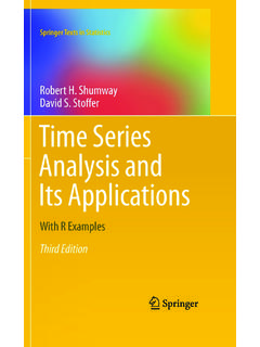 Time Series Analysis and Its Applications: With R Examples ...
