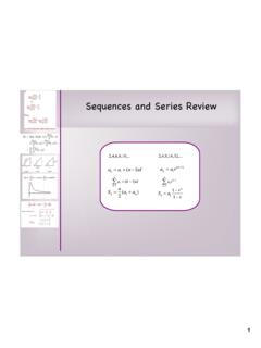 Sequences and Series Review - Math