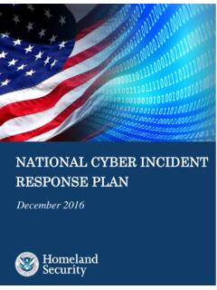 National Cyber Incident Response Plan - December 2016