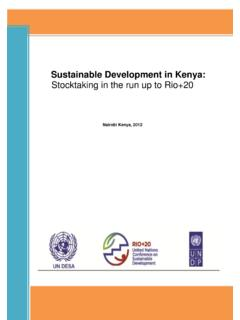 Sustainable Development in Kenya: Stocktaking in the run ...