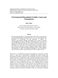 Environmental Degradation in India: Causes and …