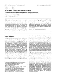 Affinity purification-mass spectrometry