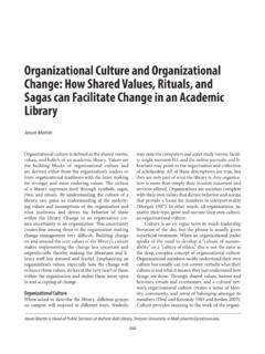 Organizational Culture and Organizational Change: How ...