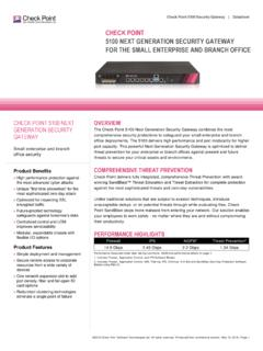 5100 Security Gateway Datasheet - Check Point …