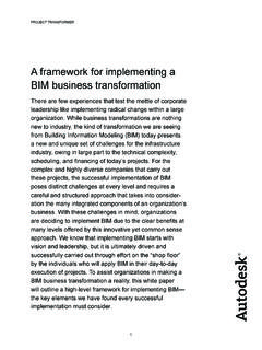 A framework for implementing a BIM business …