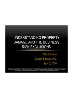 UNDERSTANDING PROPERTY DAMAGE AND THE …