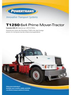 T1250 6x4 Prime Mover-Tractor - Home - Powertrans