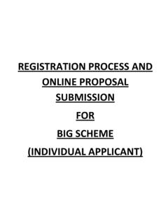 REGISTRATION PROCESS AND ONLINE PROPOSAL …