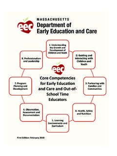 core competencies, infants through elementa ry school ...