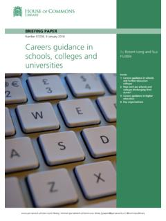 Careers guidance in schools, colleges and universities