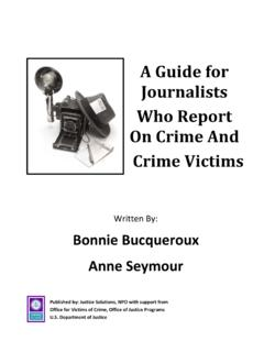 A Guide for Journalists Who Report On Crime And Crime …