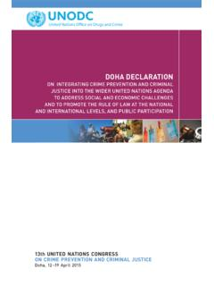 Doha Declaration on Integrating Crime Prevention and ...