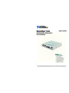 Model FSL-0010 QuickSyn Lite - product-home