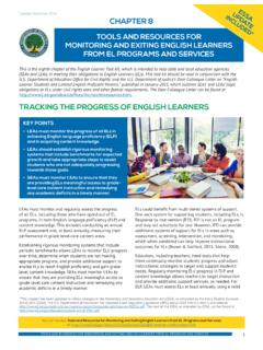 TRACKING THE PROGRESS OF ENGLISH LEARNERS
