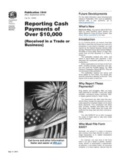 Over $10,000 Payments of Reporting Cash - irs.gov