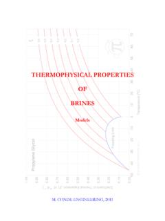 THERMOPHYSICAL PROPERTIES OF BRINES - mrc …