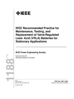 IEEE Recommended Practice for Maintenance, Testing, and ...