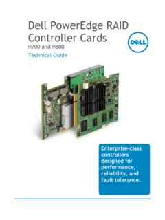 Dell PowerEdge RAID Controller Cards