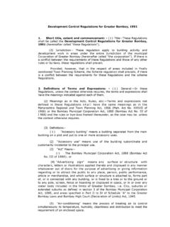 control regulations for greater mumbai 1991 Part 1 Done