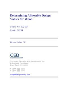 Determining Allowable Design Values for Wood