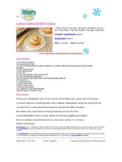 Lemon Almond Mini Cakes Recipe - Hungry Girl