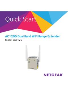 AC1200 Dual Band WiFi Range Extender Model ... - Netgear