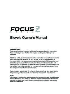 Bicycle Owner's Manual - Amazon S3