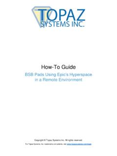 BSB Pads for Epic's Hyperspace - Topaz Systems Inc.