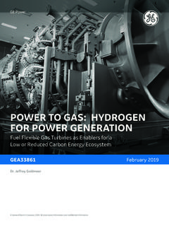 POWER TO GAS: HYDROGEN FOR POWER GENERATION